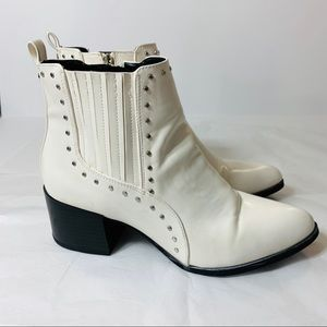 Sam Edelman Circus Booties Studded White Black 9
